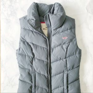 Navy Blue Hollister Puffy Vest Small